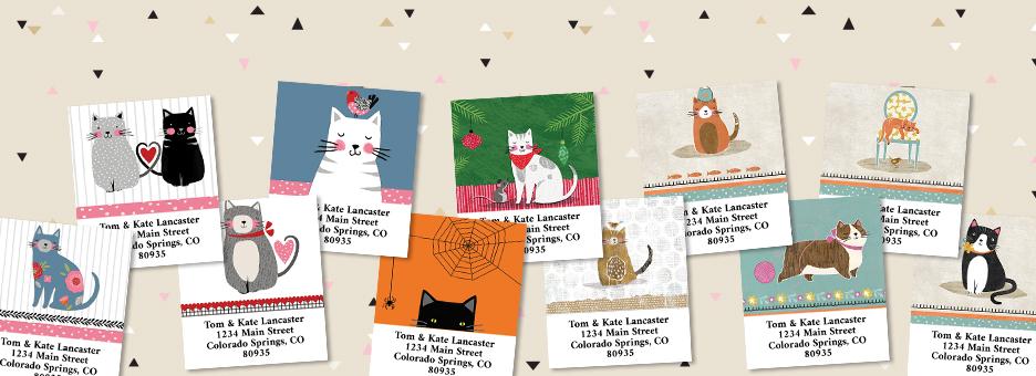Shop Cats Labels at Colorful Images