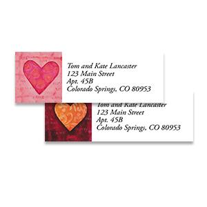 Shop Valentines Labels at Colorful Images