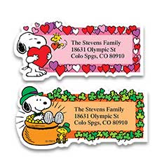 Year Round Labels at Colorful Images