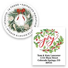 Shop Christmas Wreaths Labels at Colorful Images