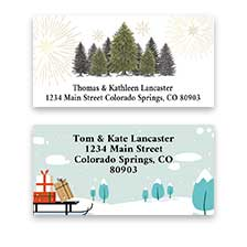 Shop Snowy Scenes Labels at Colorful Images