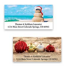 Shop Christmas at the Beach Labels at Colorful Images