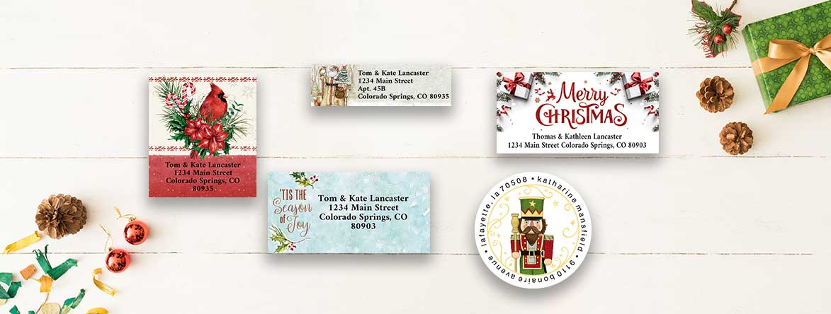 Shop Christmas Labels and get your second set 50% off at Colorful Images.